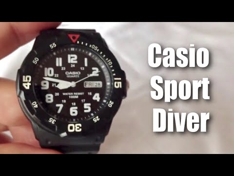 black rubber casio sport diver mrw200h 1bct men s quartz watch black rubber casio sport diver mrw200h 1bct men s quartz watch unboxing and review