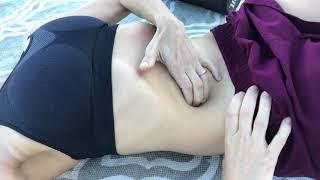 Le massage viscéral de l'abdomen