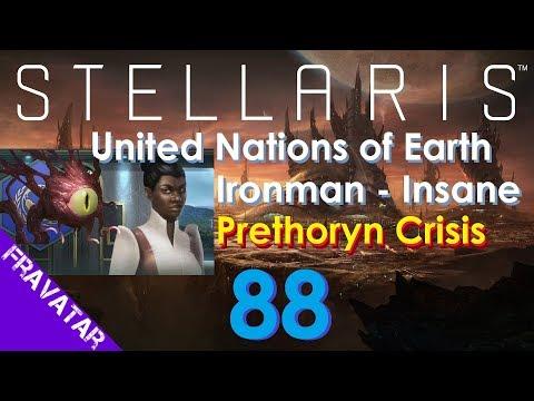 Stellaris ep88 Prethoryn Scourge Vs. U.N. of Earth Federation  - Insane Difficulty Gameplay.