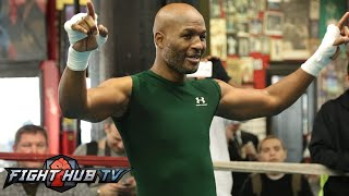 Bernard Hopkins vs. Sergey Kovalev- Hopkins open media workout - Mitts + Shadow boxing
