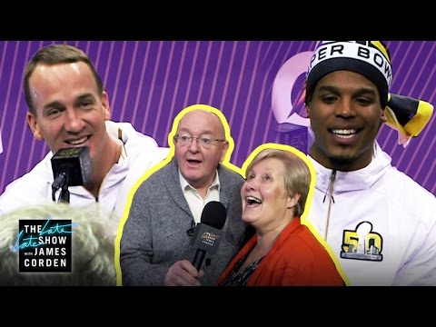 James Corden's Parents Invade Super Bowl 50 Media Day