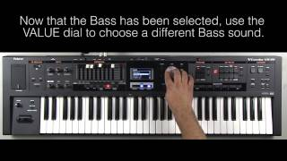 Roland VR-09 - How to Create a Split (Piano/Bass)
