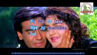 tumse milne ko dill hindi karaoke for feMale singers with lyrics (ORIGINAL TRACK)