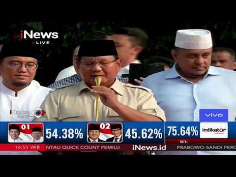 Konferensi Pers Prabowo Terkait Perhitungan Suara - iNews Sore 17/04