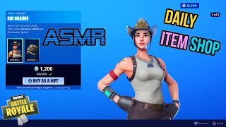 ASMR | Fortnite NEW Rio Grande and Frontier Skins! Item Shop Update 🎮🎧Relaxing Whispering😴💤