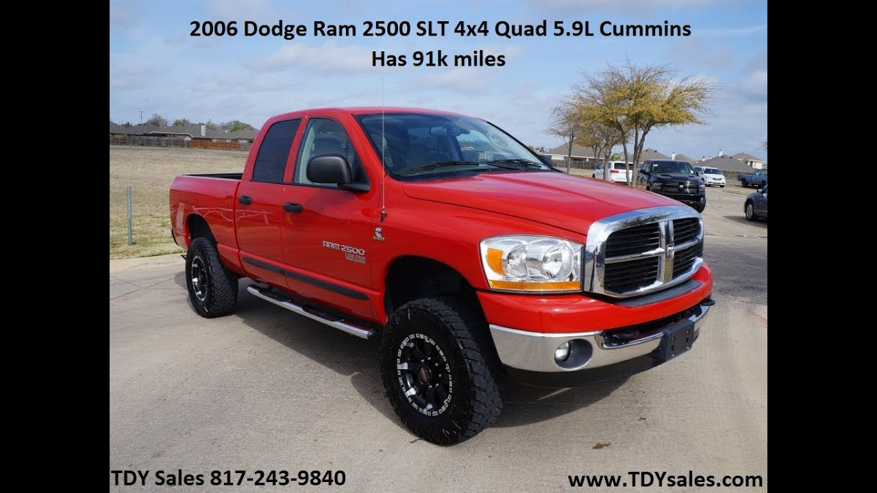 2006 Dodge Ram 2500 Slt 4x4 In Red With 91 310 Miles Tdy