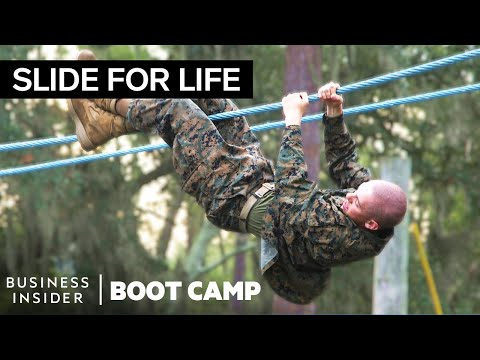 "The Toughest Obstacles Marines Face In The ""Confidence Cours"