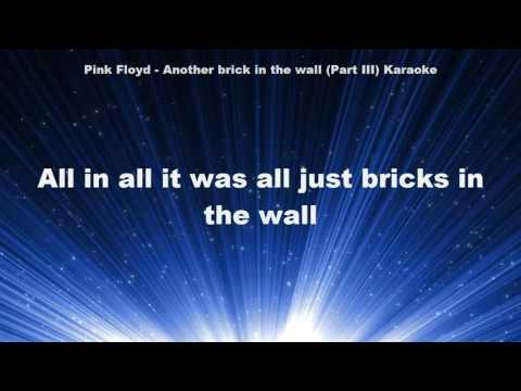 Pink Floyd - Another brick in the wall Part 3 Karaoke