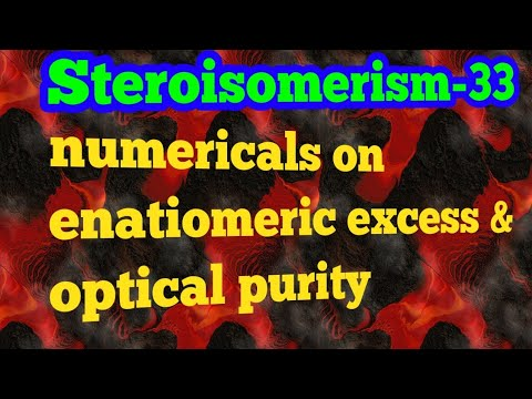 Enantiomeric excess and optical purity problems