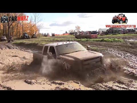 Newer Stock Ford Super Duty Mudding At Waltons Mud Bog