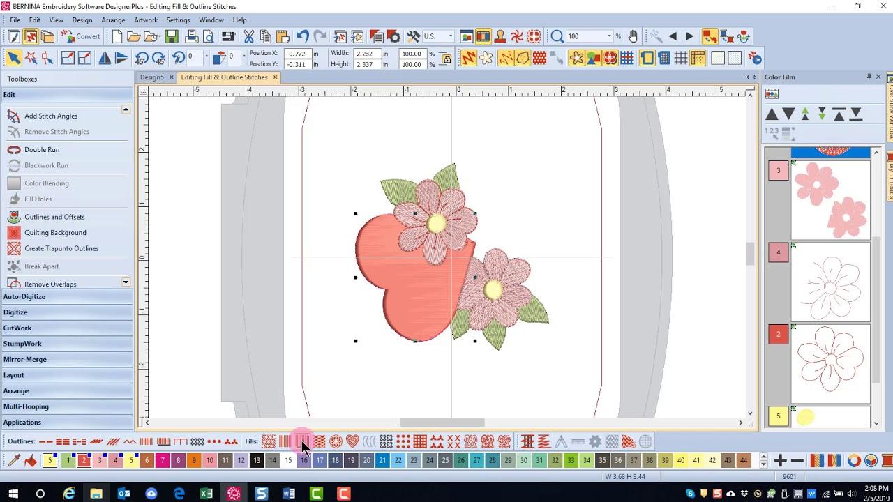 Master BERNINA Embroidery Software 8 – Stitch Types Types