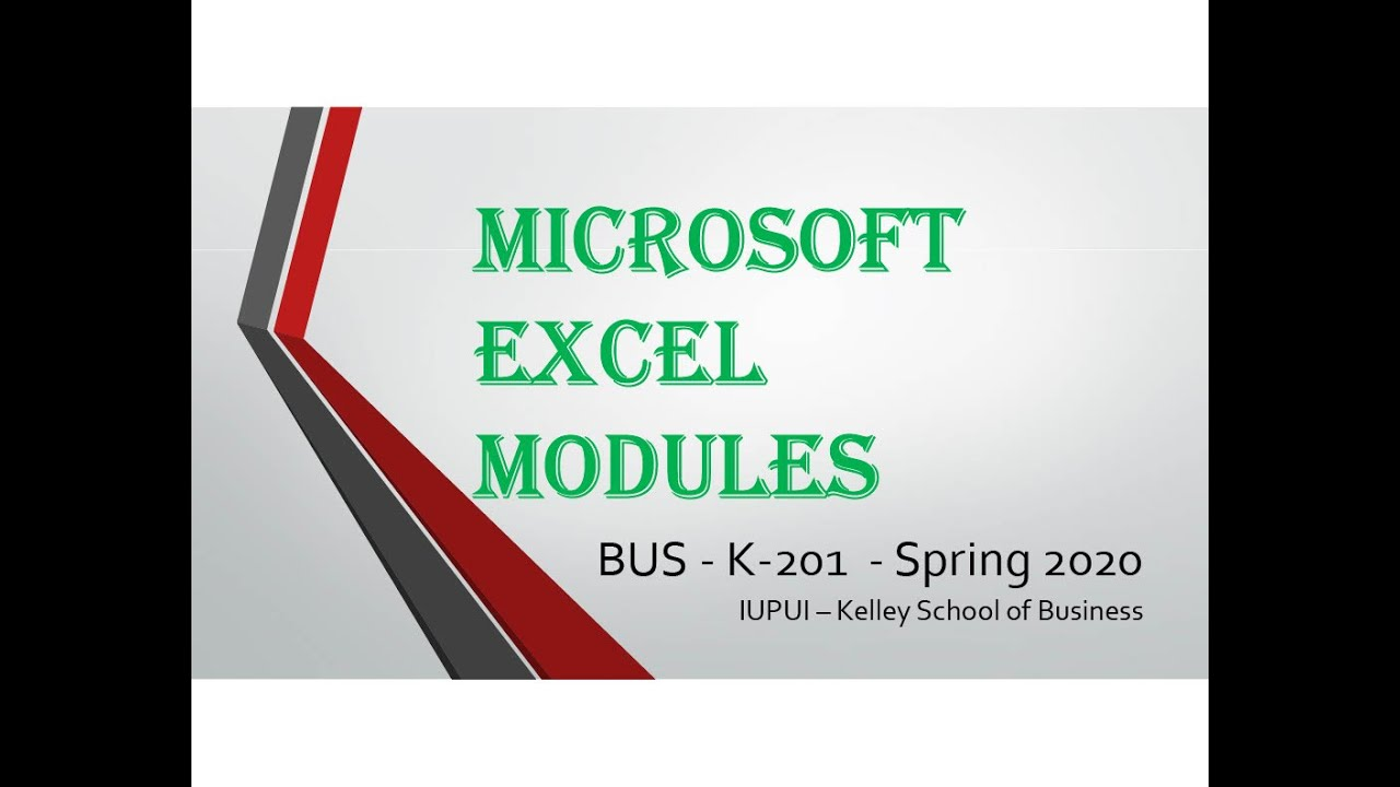 Excel 2016 Module 4 Part 1 PMT - 480p