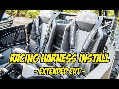 Polaris RZR 6 Point Retractable Racing Harness Installation Video - #TeamAJP Install Vlog 001