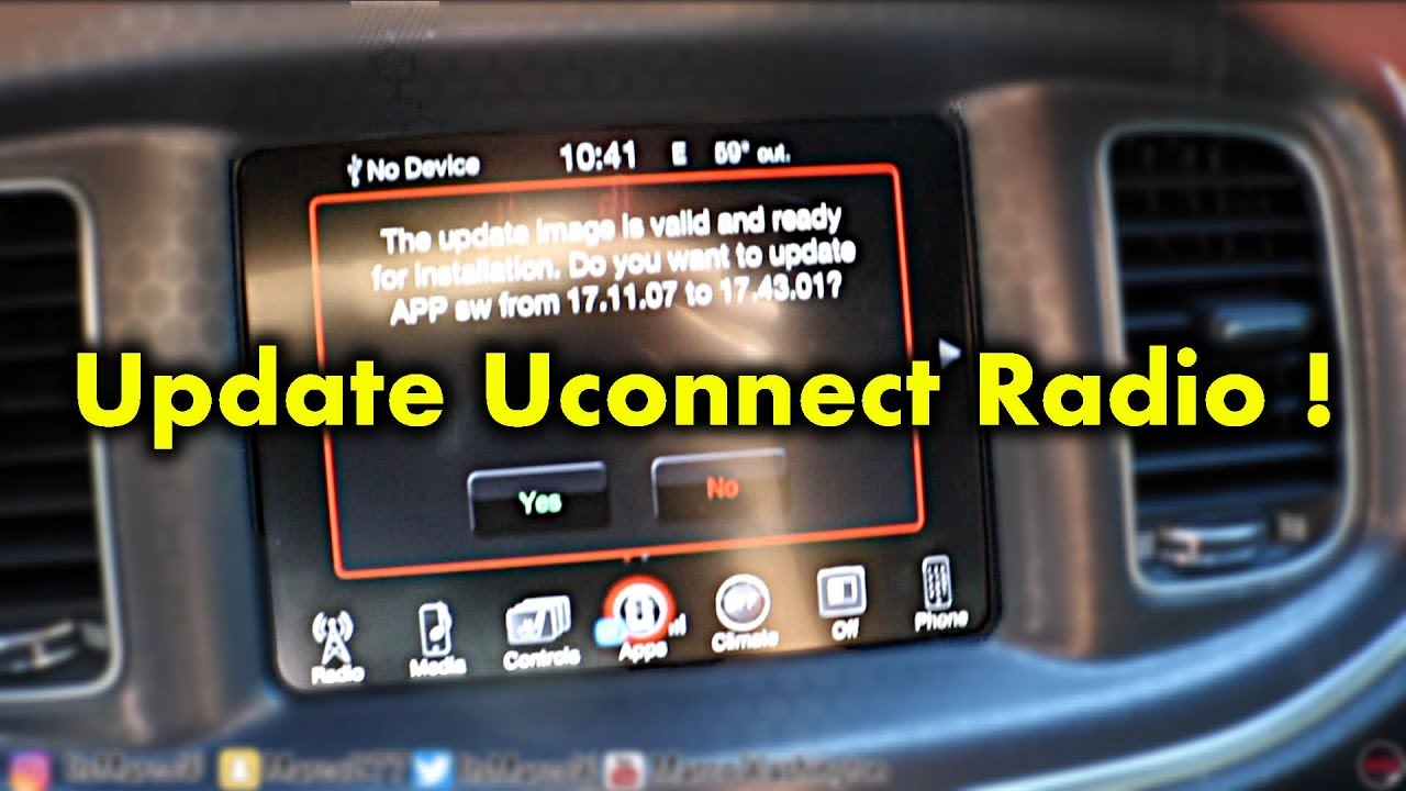 How To Update Uconnect Radio Youtube
