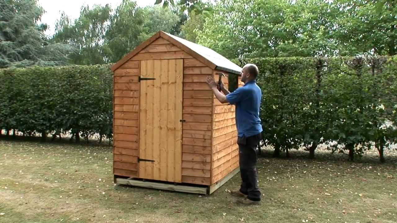 How to build a garden shed onto a wooden base - YouTube