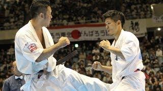 【新極真会】第44回全日本空手道選手権大会 男子準々決勝 島本雄二 VS ...