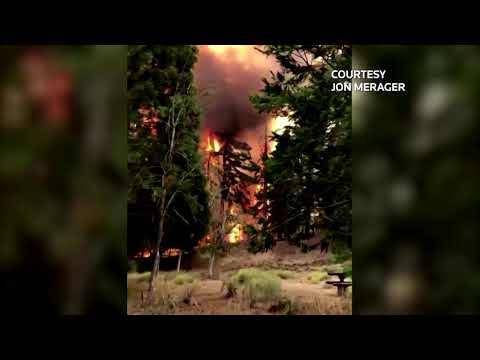 Crews search for dead in Oregon as wildfires rage