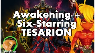 SUMMONERS WAR : Awakening and 6 starring Tesarion the Fire Ifrit