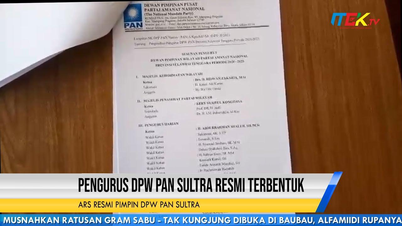 Pengurus DPW PAN Sultra Resmi Terbentuk