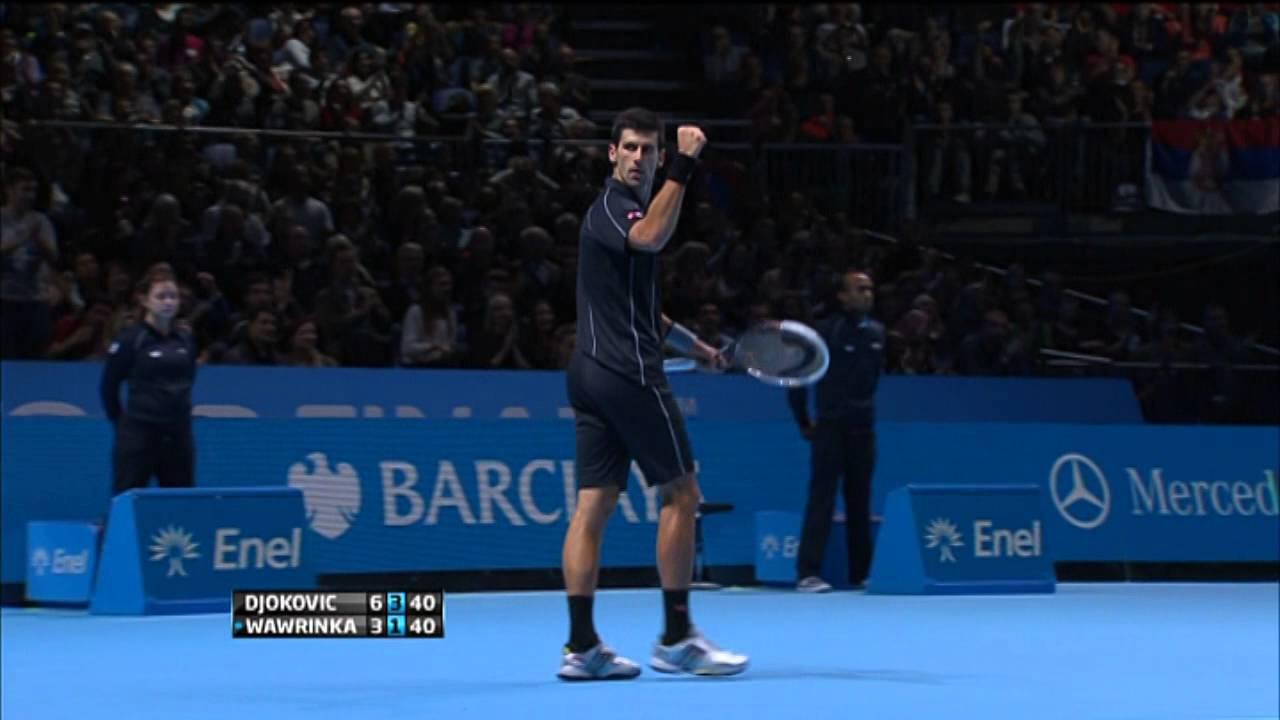 Barclays ATP World Tour Finals 2013 Sunday Highlights Djokovic Wawrinka