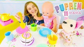 Puppen Mama - Ayça bereitet für Rose eine Tee-Party vor