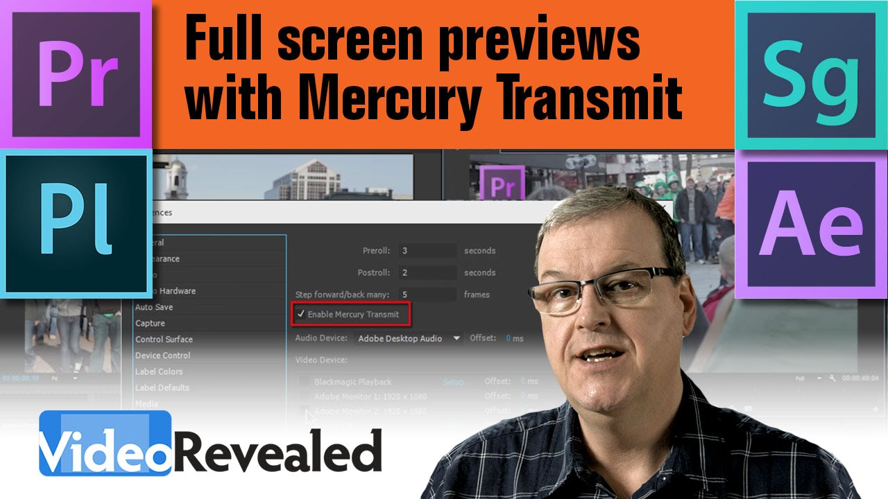 Full screen previews with Mercury Transmit