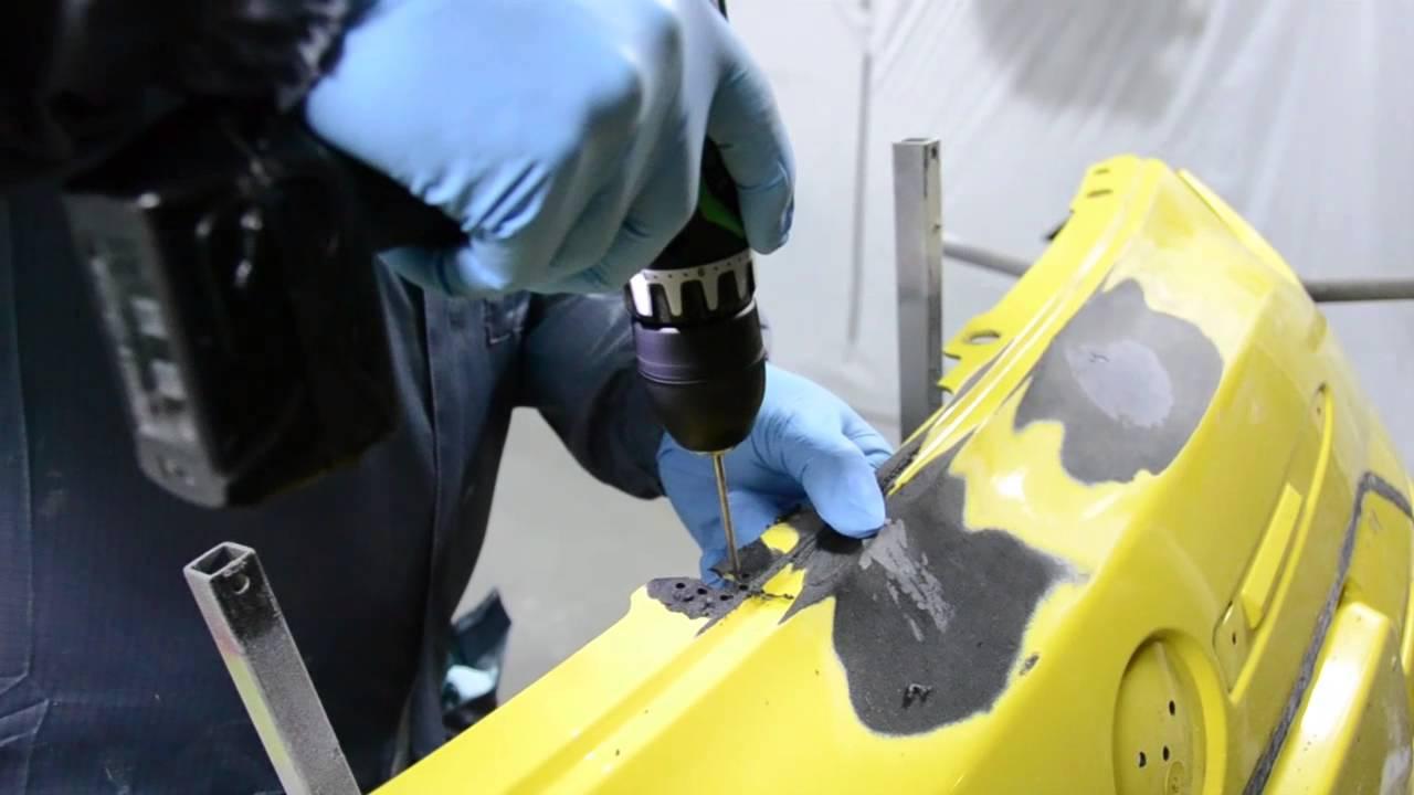 Wonderbaar Kunststofreparatie: Herstellen van een gat in een kunststof bumper KK-42