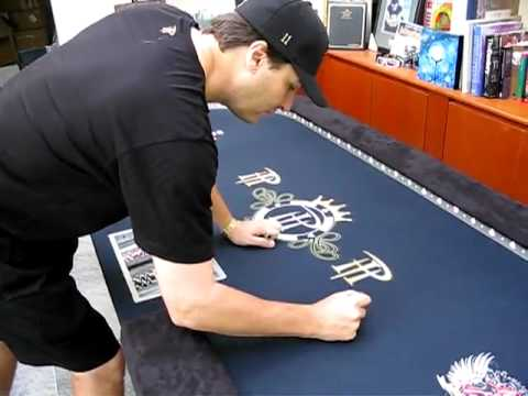 Phil Hellmuth Signature Series Custom Poker Table