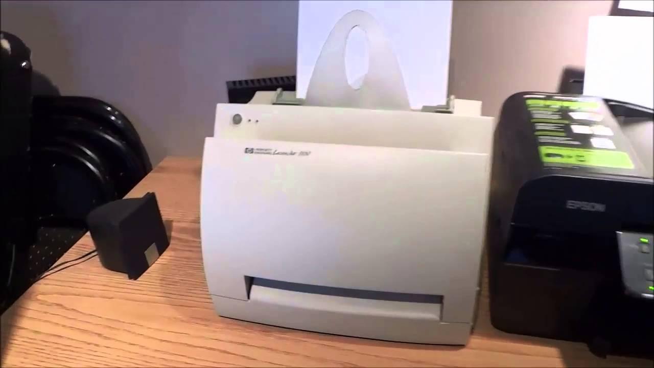 Hp Laserjet 1100 Printer Review Youtube