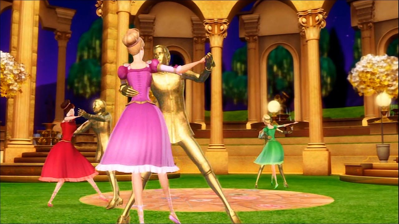 Barbie in the 12 dancing princesses third dance wih a partner in the enchanted pavillon youtube - Barbie and the 12 princesses ...