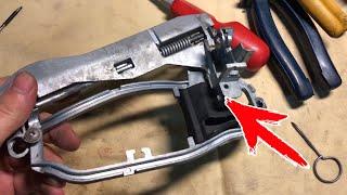 Ремонт механизма дверной ручки BMW X5 E53