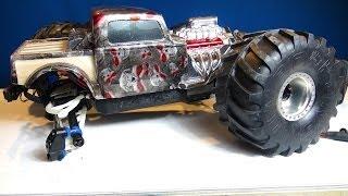 RC ADVENTURES - REAPER RAT ROD MT - What BROKE?!  Traxxas Summit 4x4 Monster Truck
