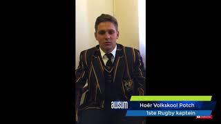 Hoër Volkskool Potchefstroom se rugby Kaptein sê..