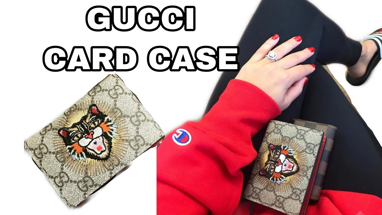 93056ad0dd4 Gucci GG Supreme Card Case Review - YouTube