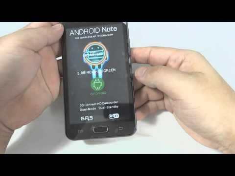 Smartphone Celular Android 4.0.9 Tela de 5 Polegadas Capacitiva 1.0GHz MTK6577 Dual ...