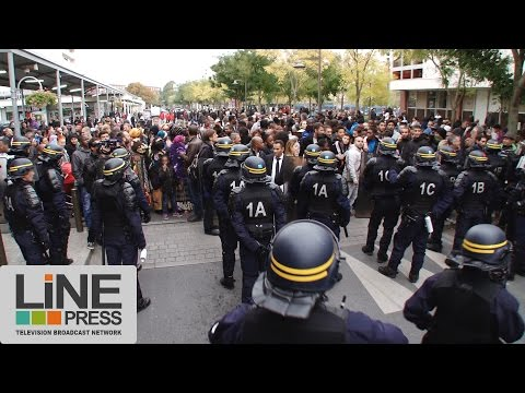 Déplacement houleux de François Hollande / La Courneuve (93) - France 20 octobre 2015