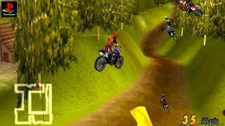 Motocross Mania - Gameplay PSX / PS1 / PS One / HD 720P (Epsxe)