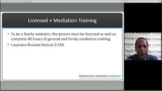 Mediation Training Company - Who Serves As Louisiana Family Mediators