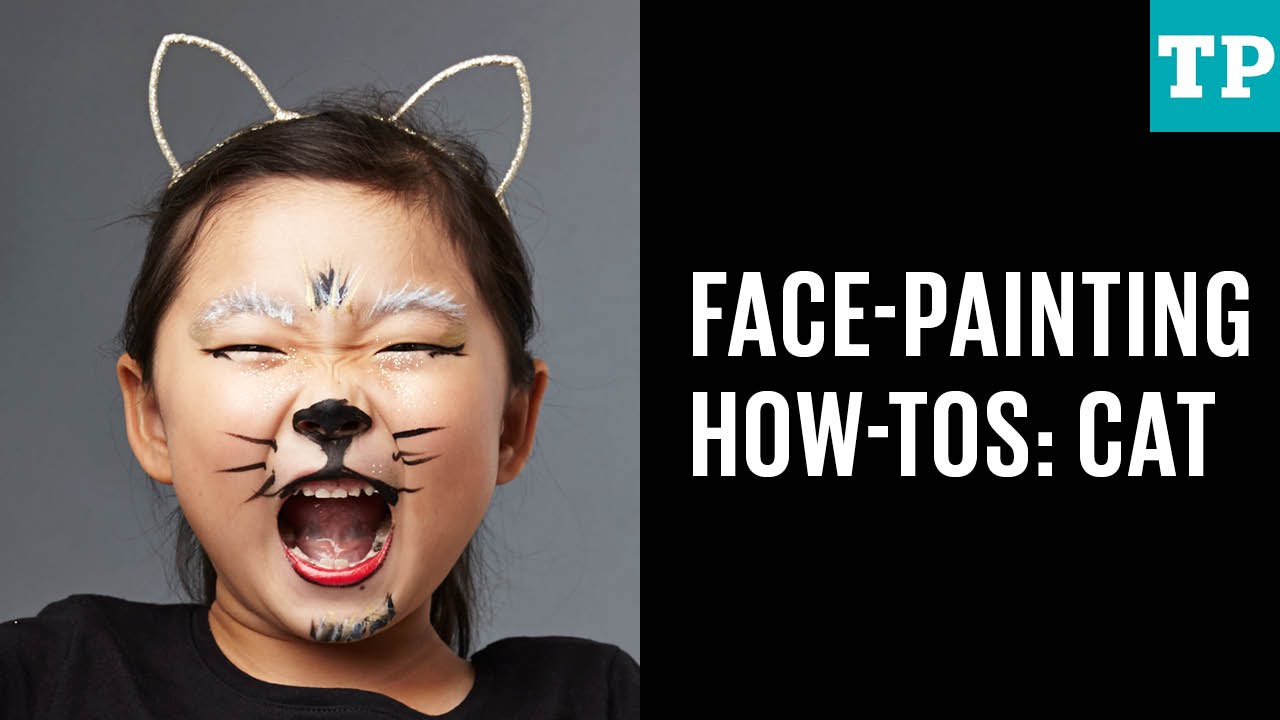 halloween face-painting how-tos: cat - youtube