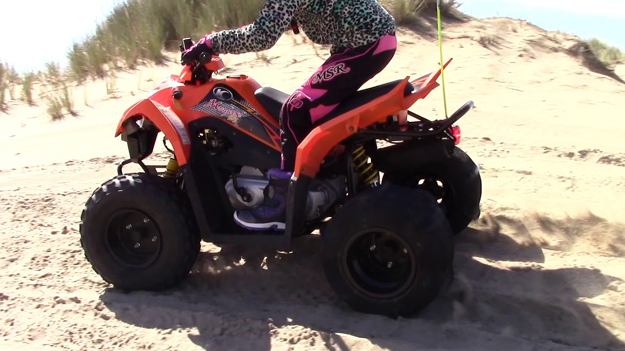 kymco mongoose 90cc atv at oregon dunes [ 1280 x 720 Pixel ]