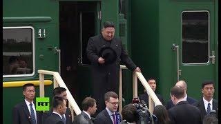 Kim Jong-un llega a Rusia para reunirse con Vladímir Putin