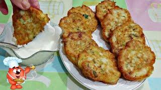 оладьи из курицы сыра и кабачка сытный рецепт
