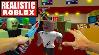 Realistic Roblox - SURVIVE THE ZOMBIE ATTACK IN ROBLOX! ROBLOX ZOMBIES
