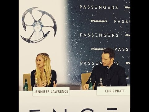 Passengers Press Conference in Berlin with Jennifer Lawrence and Chris Pratt.
