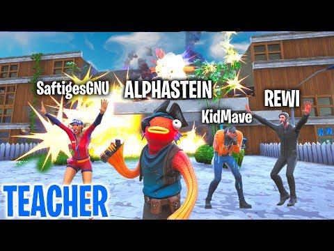 ALPHASTEIN sprengt die GESAMTE SCHULE! Fortnite TEACHER!