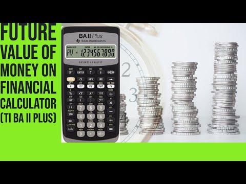 How to solve Future Values on TI BA II PLUS  CALCULATOR