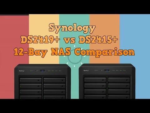 Synology DS2419+ vs Synology DS2415+  NAS Comparison