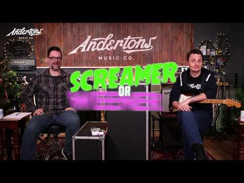 Blindfold Tubescreamer Challenge - Screamer or Weener?! - Andertons Music Co.