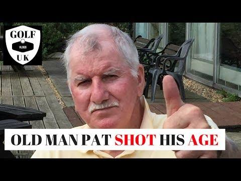 GOLFING HERO OLD MAN PAT SHOT HIS AGE GOLFING GOD