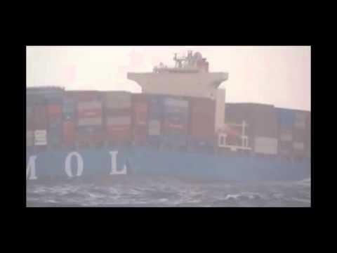 MOL Comfort drifting off Yemeni coast taped by seamen of nearby ship